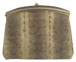 Other Snakeskin Retro Statement Chain Pale Snakeskin Clutch