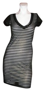 Costa Blanca short dress Black/WHITE STRIPES on Tradesy