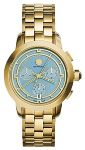 Tory Burch New Women's Authentic Tory Watch Gold Tone Chronograph 37 mm TRB1021