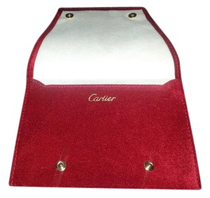 Cartier Cartier authentic red suede watch bag
