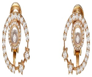 Chopard Chopard 18k Rose Gold Happy Diamond Earrings