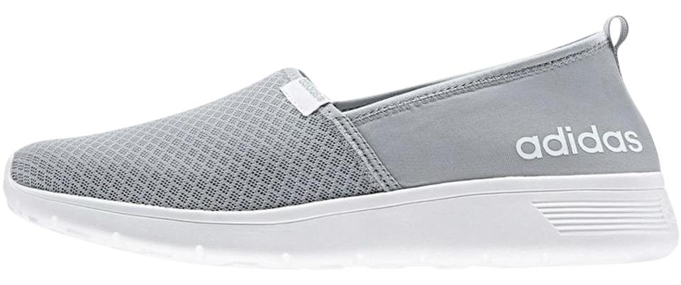 adidas Light Gray W Neo Women's Lite Racer Slip On Casual Msrp Sneakers Size US 6.5 Regular (M, B) 18% off retail