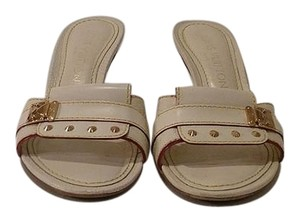 Louis Vuitton Cream Mules