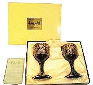 2-Goblet Set from UTSUWA-NO-YAKATA of Japan - [ Roxanne Anjou Closet ]