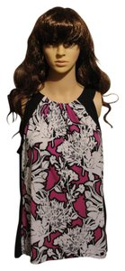 Worthington Top Magenta/Black/White