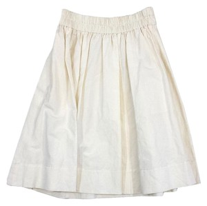 Marc Jacobs Ivory Linen Cotton Midi Skirt
