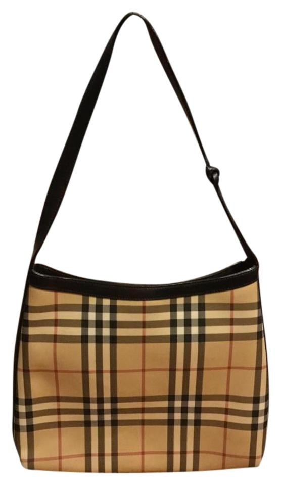 8af07190a7bb Burberry Awesome Style London Woman s Medium Size Handbag Tote House Check  + Leather Multi Color Coated Canvas Shoulder Bag