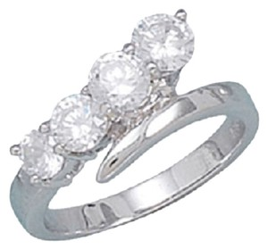 Other Rhodium Plated Graduated CZ Ring