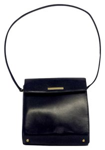 St. John Small Dark Navy Shoulder Bag