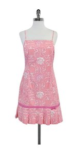 Lilly Pulitzer short dress Pink White Butterfly Rose on Tradesy