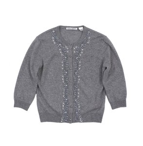 Autumn Cashmere Grey Beaded Cardigan