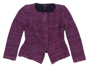 St. John Purple & Red Wool Blend Jacket