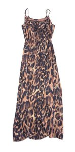 Maxi Dress by Theory Brown Animal Print Maxi