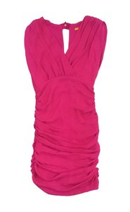 Alice + Olivia short dress Pink Sleeveless Drape on Tradesy