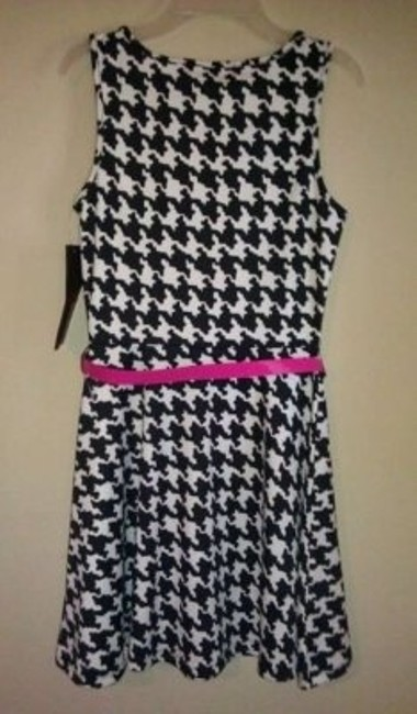 Almost Famous short dress black/white on Tradesy