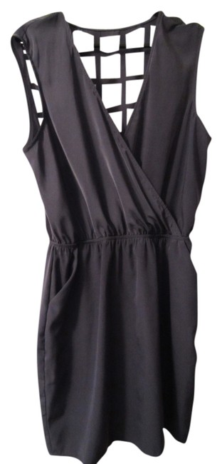 Item - Grey Party Mini Night Out Dress Size 8 (M)