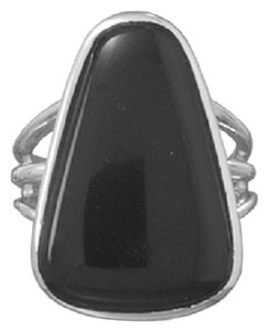Other Tri Shape Black Onyx Ring