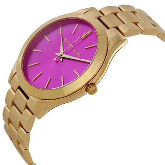 Michael Kors Michael Kors Pink Dial Gold Tone Stainless Steel Ladies Watch