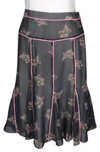 Marc Jacobs Shear Floral Skirt Black