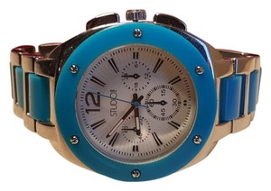 Silver aqua Blue Watch by Studio