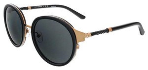 Tory Burch Tory Burch Rose Gold/Black Round Sunglasses