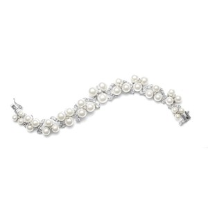 Luxe Pearls & Crystals Couture Bridal Bracelet