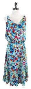 Diane von Furstenberg Multi Color Cowl Neck Dress