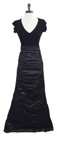 Maxi Dress by Nicole Miller Black Short Sleeve Maxi Gown