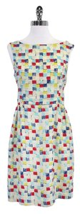 Mischen short dress Blue Red Yellow Square on Tradesy