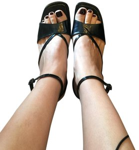 Robert Clergerie Black patent Wedges