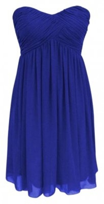 Preload https://item5.tradesy.com/images/royal-blue-strapless-sweetheart-pleated-bust-chiffon-knee-length-cocktail-dress-size-6-s-155164-0-0.jpg?width=400&height=650