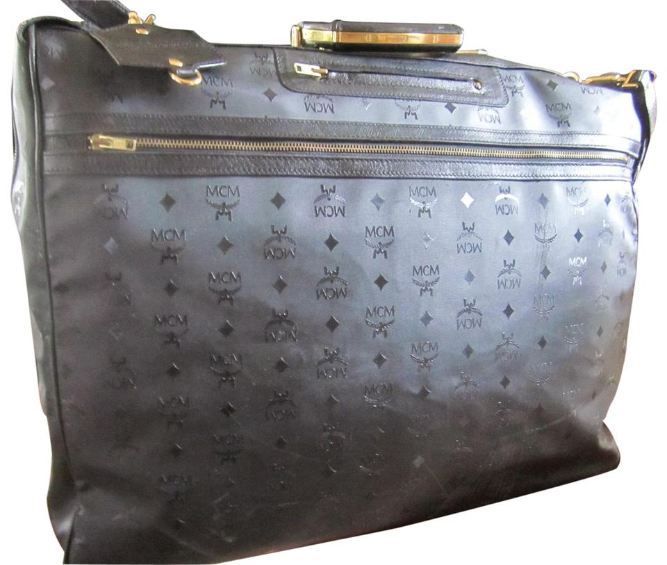 Bag Mcm Leather Retail And Canvas Weekendtravel Monogram Garment Black 77Off QCdhxtsBr