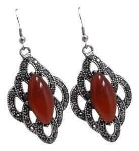 Red Agate Fashion Earrings w Free Shipping