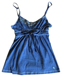 Abercrombie & Fitch Top Blue and silver