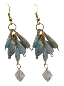 Aqua Florite Waterfall Fashion Earrings w Free Shipping
