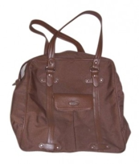 Preload https://img-static.tradesy.com/item/155169/nine-west-brown-and-brown-leather-accents-canvas-weekendtravel-bag-0-0-540-540.jpg