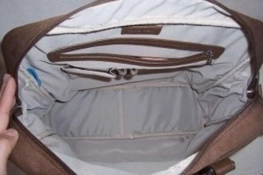 Nine West Brown and brown leather accents Travel Bag