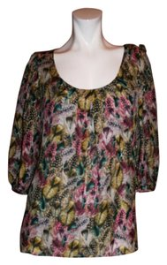 Leifsdottir Silk Floral Top MULTI COLOR