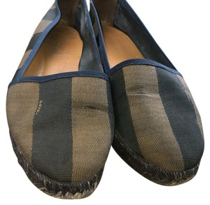 Fendi Blue and Brown Flats