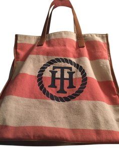 Tommy Hilfiger Tote in Peach and Cream