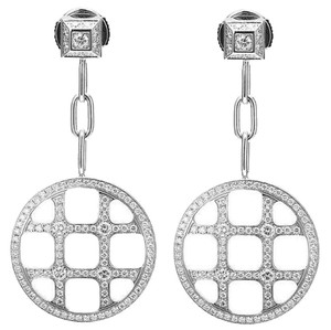 Cartier Cartier Pasha De 18K White Gold Diamond Earrings
