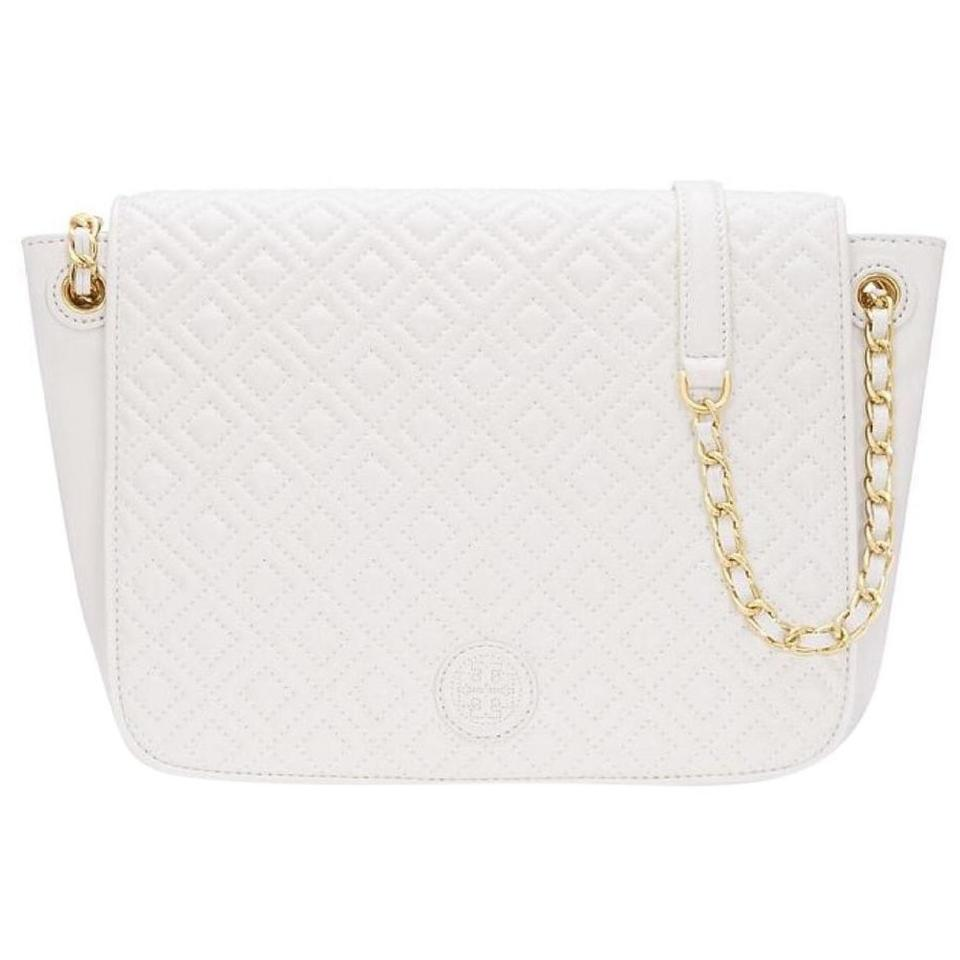 877610a50 Tory Burch Marion Quilted Small Flap New Ivory Leather Shoulder Bag ...