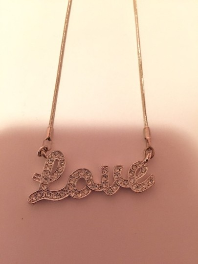 Unknown Silver Love Necklace