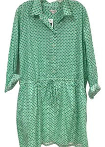 Gap short dress Green, White on Tradesy