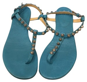 Balenciaga Teal Sandals
