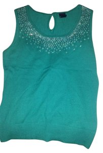 Gap Sequin Knit Top green