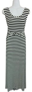 Black & white Maxi Dress by Style & Co Maxi Striped Neck