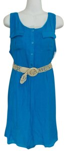 AGB short dress Blue Belted Empire Waist on Tradesy