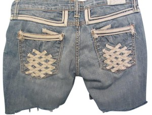 Taverniti So Jeans Cut Off Shorts blue denim