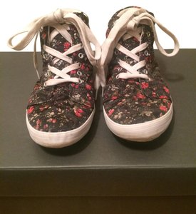 Urban Outfitters black, red, white, floral Flats
